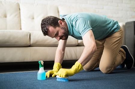 Как удалить пятно с ковра
