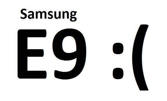 самсунг ошибка е9